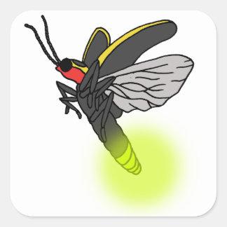 lightning bug flight 2 lit square sticker