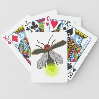 lightning bug flight lit bicycle playing cards