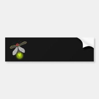 lightning bug flight lit bumper sticker