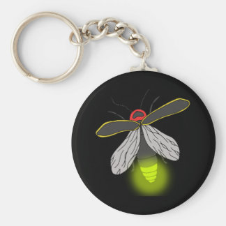 lightning bug flight lit keychain