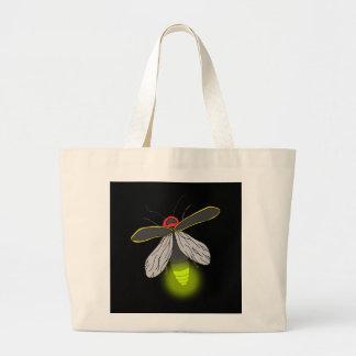 lightning bug flight lit large tote bag