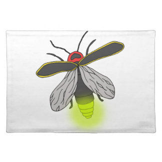 lightning bug flight lit placemat