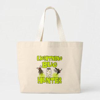 lightning bug hunter large tote bag