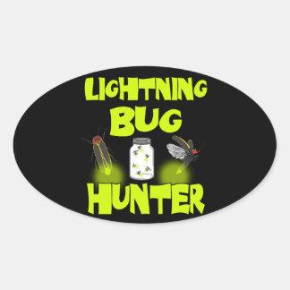 lightning bug hunter oval sticker
