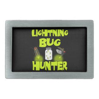 lightning bug hunter rectangular belt buckles
