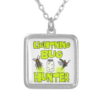 lightning bug hunter silver plated necklace
