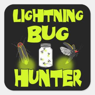 lightning bug hunter square sticker