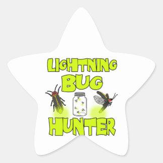 lightning bug hunter star sticker