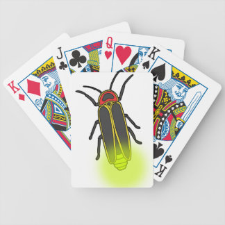 lightning bug lit bicycle playing cards