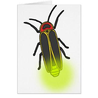 lightning bug lit card