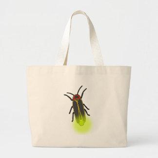 lightning bug lit large tote bag