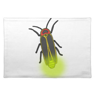 lightning bug lit placemat