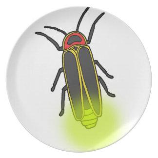 lightning bug lit plate