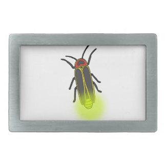 lightning bug lit rectangular belt buckles