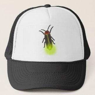 lightning bug lit trucker hat