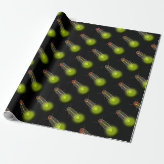 lightning bug lit wrapping paper