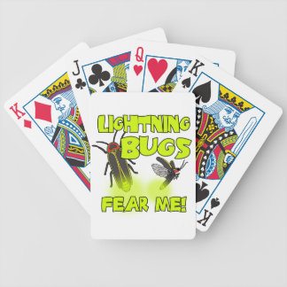 Lightning Bugs fear me Bicycle Playing Cards