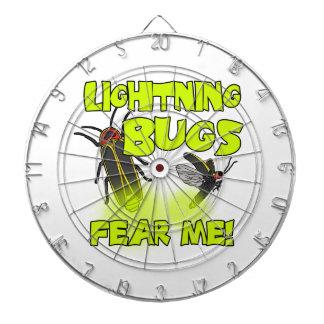 Lightning Bugs fear me Dartboard