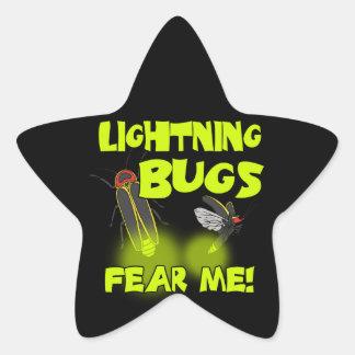 Lightning Bugs fear me Star Sticker