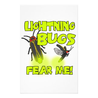 Lightning Bugs fear me Stationery