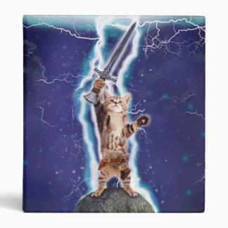 Lightning Cat 3 Ring Binder