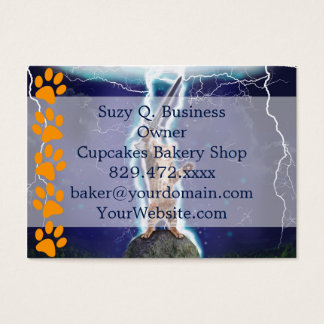 Lightning Cat Business Card
