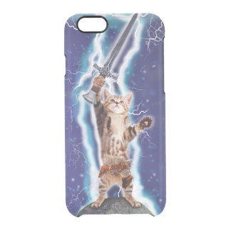 Lightning Cat Clear iPhone 6/6S Case