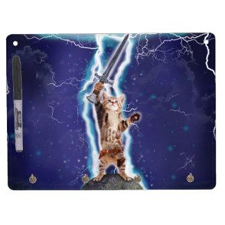 Lightning Cat Dry Erase Whiteboard