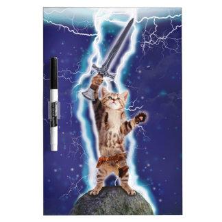 Lightning Cat Dry-Erase Whiteboards