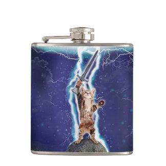 Lightning Cat Flask