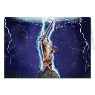 Lightning Cat Greeting Card