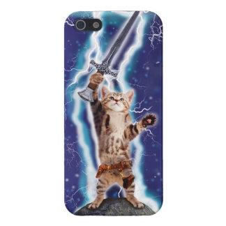 Lightning Cat iPhone 5 Cases