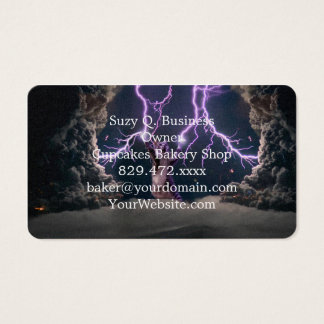 Lightning cat--kitty-pet-feline-pet cat -kittens business card