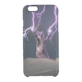 Lightning cat--kitty-pet-feline-pet cat -kittens clear iPhone 6/6S case