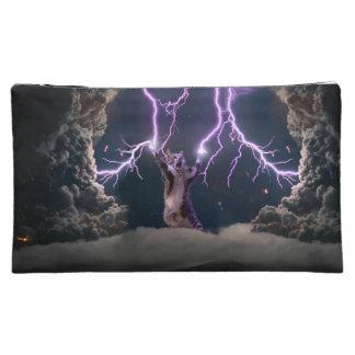 Lightning cat--kitty-pet-feline-pet cat -kittens makeup bags