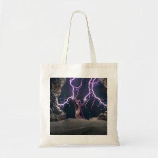 Lightning cat--kitty-pet-feline-pet cat -kittens tote bag