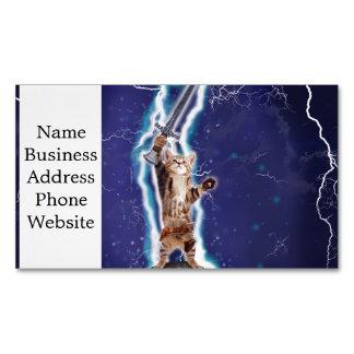 Lightning Cat Magnetic Business Card