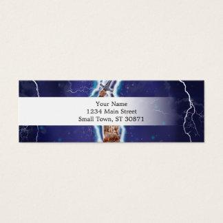 Lightning Cat Mini Business Card