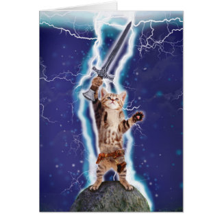 Lightning Cat Note Card
