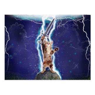 Lightning Cat Postcard