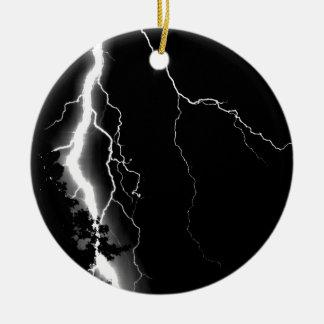 Lightning. Ceramic Ornament