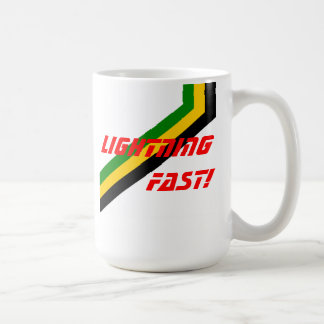 Lightning Fast Jamaica Stripes Coffee Mug