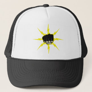 Lightning fist trucker hat