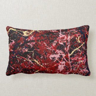 LIGHTNING FLASH (an abstract art design) ~ Lumbar Pillow