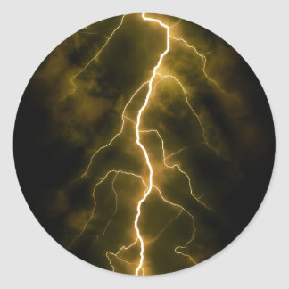 Lightning Flash Round Sticker