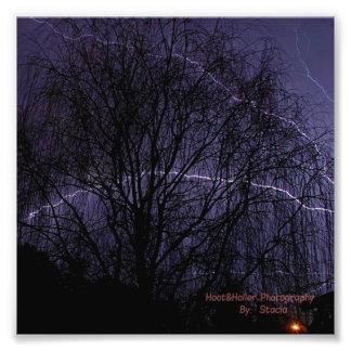 Lightning for Christmas Photographic Print