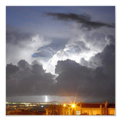 Lightning from Sardinia - Italy Photographic Print