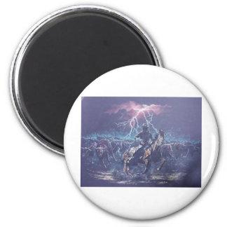 Lightning Herding 2 Inch Round Magnet