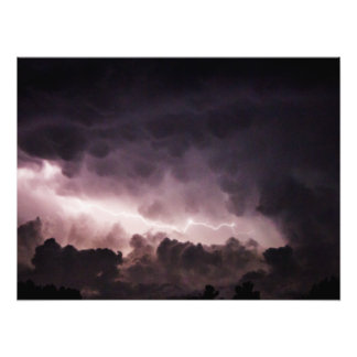 """Lightning in the Clouds 24"""" x 18"""" Photo Print"""