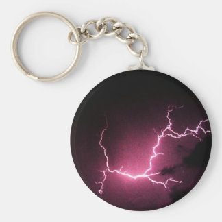 Lightning in the Dark Basic Round Button Keychain